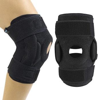 Vive Hinged Knee Brace - Open Patella Support Wrap for Women, Men