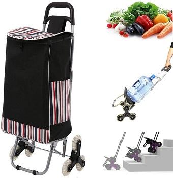 WOOKRAYS Folding Shopping Cart