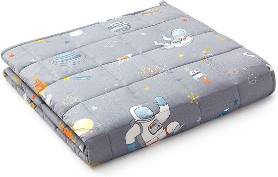 YnM Kids Weighted Blanket — Organic Long Stapled Cotton Material with Premium Glass Beads