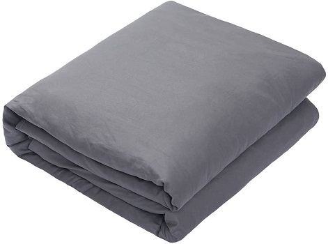 ZonLi Breathable Weighted Blanket (Grey, 80''x87'', 25lbs) for Adults Women, Men, Youths