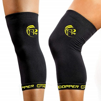 CFR Copper Knee Sleeves Knee Support Copper Infused