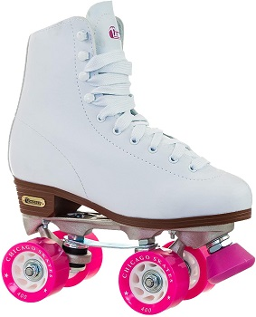 Chicago Women's Classic Roller Skates - Premium White Quad Rink Skates