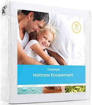 Linenspa Zippered Waterproof Bed Sheet Protector