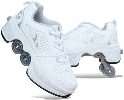 MLyzhe Deformation Roller Shoes Male and Female Skating Shoes