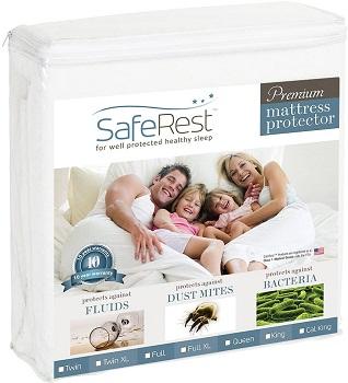 SafeRest Full Size Premium Hypoallergenic Waterproof Bed Sheet Protector