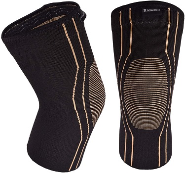 Thx4COPPER Sports Compression Knee Brace for Joint Pain and Arthritis Relief