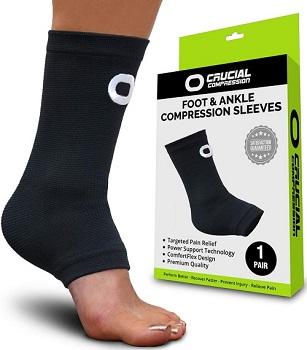 Ankle Brace Compression Support Sleeve - Extensor Tendonitis Foot Brace