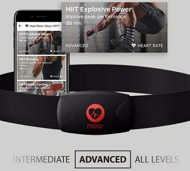 Moov HR Burn Heart Rate Monitor & Audio Coach for Android and iOS