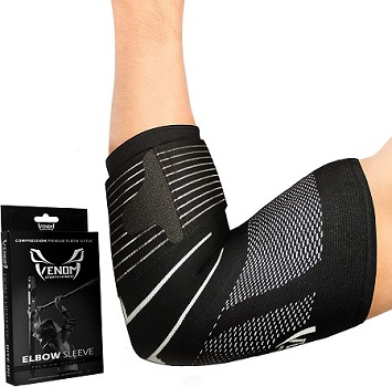 Venom Strapped Elbow Brace Compression Sleeve