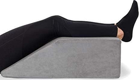 Leg Elevation Pillow - with Full Memory Foam Top, High-Density Leg Rest Elevating Foam Wedge