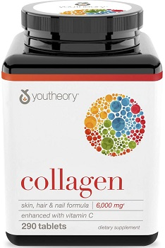 Youtheory Collagen with Vitamin C, 290 Count (1 Bottle)