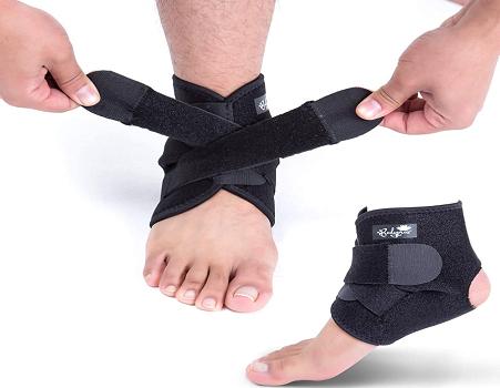 BodyProxAnkle Support Brace, Breathable Neoprene Sleeve, Adjustable Wrap!