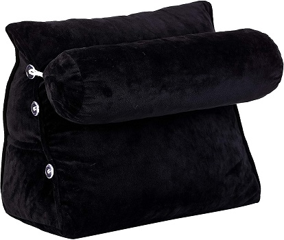 Cheer Collection Wedge Shaped Back Support Pillow and Bed Rest Cushion
