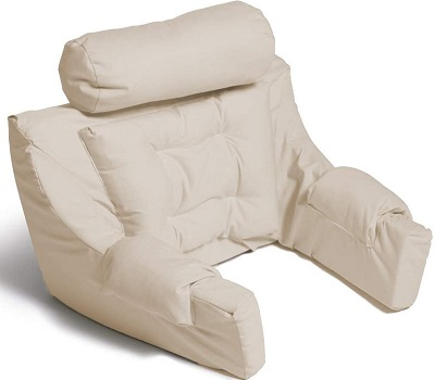 Hermell Deluxe Extra Firm Bed Lounger Reading Pillow