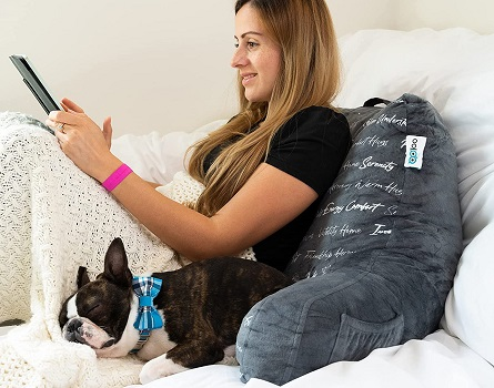 MYOOLOO Gratitude Reading Pillow Bed Wedge