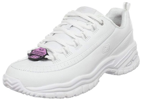 SKETCHERS FOR WORK WOMEN SOFT STRIDE-SOFTIE LACE UP