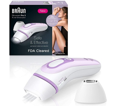 Braun IPL Hair Removal for Women, Silk Expert Pro 3 PL3111 with Venus Smooth Razor