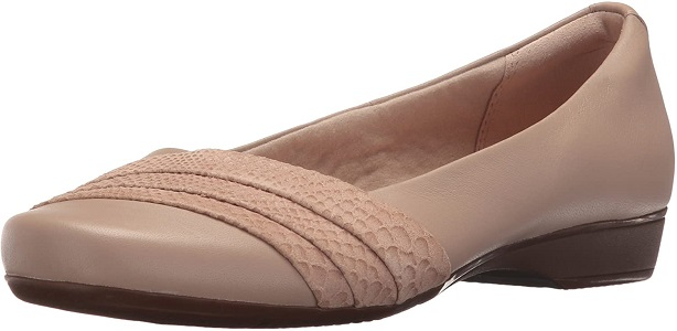 Clarks women's Blanche Cacee Feet Shoes for Plantar Fasciitis